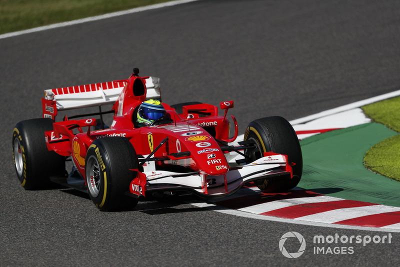 Felipe Massa, Ferrari lors des Legends F1 30th Anniversary Lap Demonstration