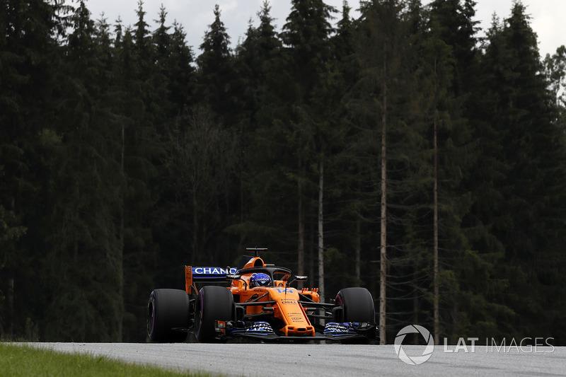 Start aus der Boxengasse: Fernando Alonso, McLaren MCL33