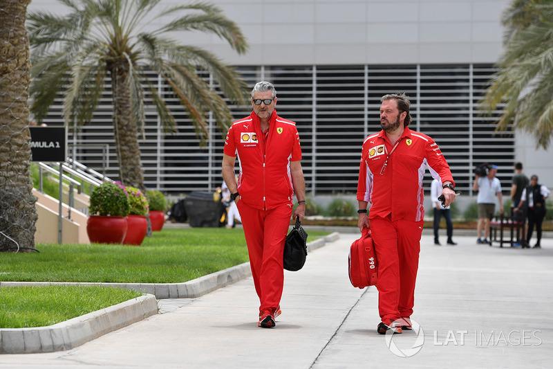Maurizio Arrivabene, Team Principal Ferrari dan Gino Rosato, Ferrari