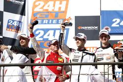 Podium: second place #12 Manthey Racing Porsche 991 GT3 R: Otto Klohs, Lars Kern, Mathieu Jaminet, Sven Müller