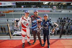 Podium: race winner Stefano Comini, Comtoyou Racing, second place Gianni Morbidelli, West Coast Raci