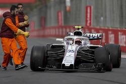 Sergey Sirotkin, Williams FW41 crashed on lap one