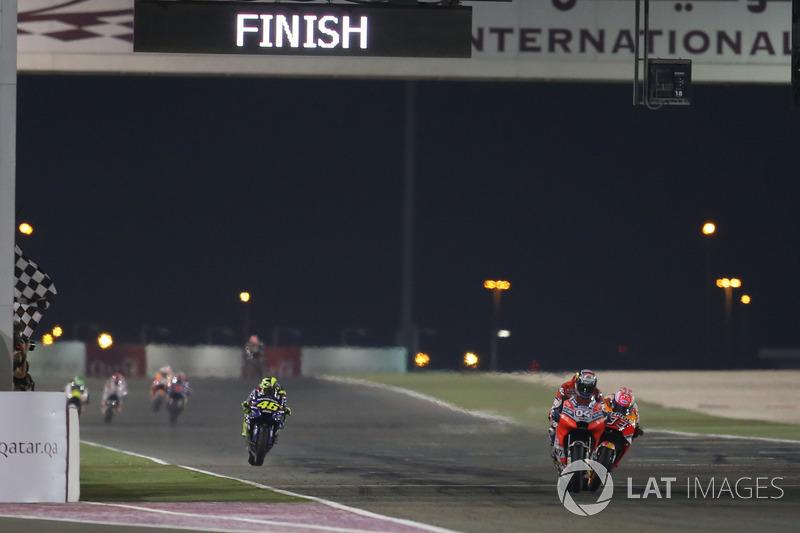 Andrea Dovizioso, Ducati Team, Marquez y la bandera a cuadros...