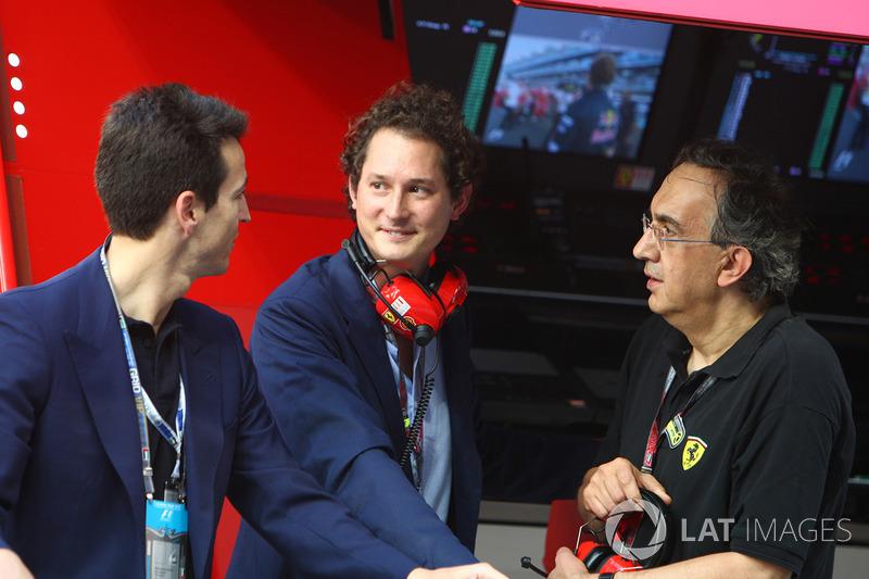John Elkann Chairman of FIAT with Sergio Marchionne