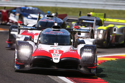 #8 Toyota Gazoo Racing Toyota TS050: Sébastien Buemi, Kazuki Nakajima, Fernando Alonso, #7 Toyota Gazoo Racing Toyota TS050: Mike Conway, Jose Maria Lopez, Kamui Kobayashi