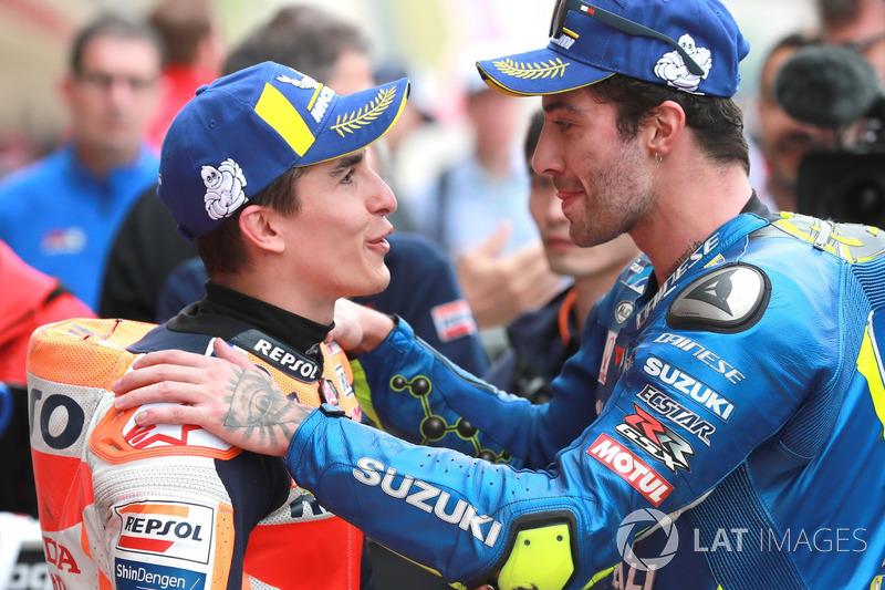 Marc Marquez, Repsol Honda Team, Andrea Iannone, Team Suzuki MotoGP