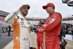 Daniel Suarez, Joe Gibbs Racing, Toyota Camry ARRIS and Kyle Busch, Joe Gibbs Racing, Toyota Camry Skittles