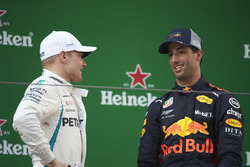 Podium: race winner Daniel Ricciardo, Red Bull Racing, second place Valtteri Bottas, Mercedes-AMG F1, third place Kimi Raikkonen, Ferrari