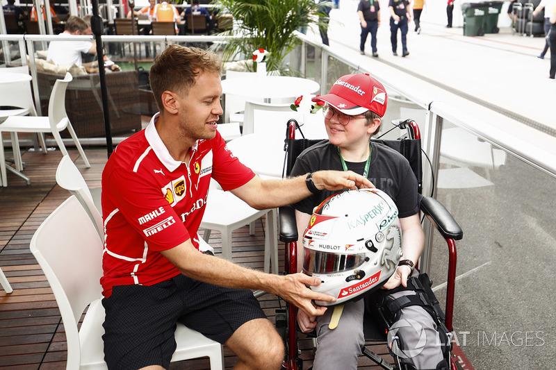 Себастьян Феттель, Ferrari, уболівальник