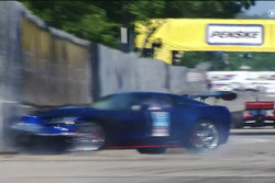Crash des Pace-Cars in Detroit (Screenshot)