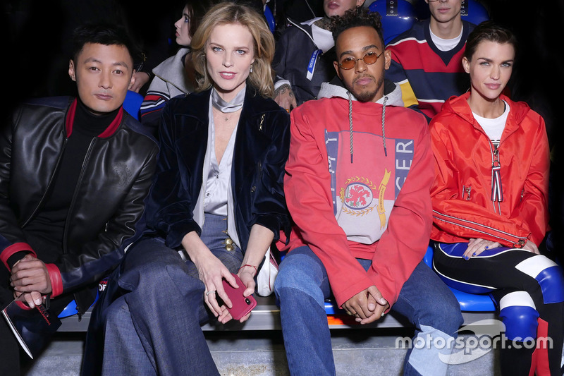 Shawn Yue, Eva Herzigova, Lewis Hamilton
