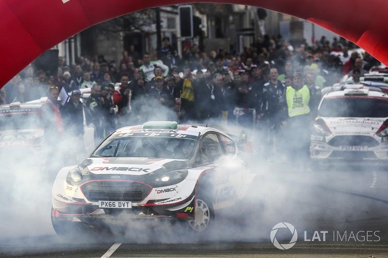 Los ganadores Elfyn Evans, Daniel Barritt, Ford Fiesta WRC, M-Sport