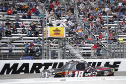 Noah Gragson, Kyle Busch Motorsports Toyota takes the checkered flag
