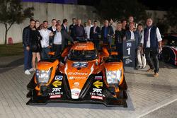 #22 G-Drive Racing, Oreca 07 - Gibson: Memo Rojas, Ryo Hirakawa, Leo Roussel with the team