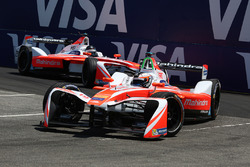 Felix Rosenqvist, Mahindra Racing, ve Nick Heidfeld, Mahindra Racing
