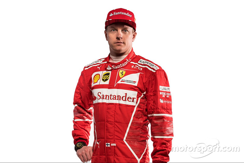kimi raikkonen ferrari at ferrari sf70h launch. Black Bedroom Furniture Sets. Home Design Ideas