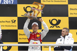 Podium: third place Mattias Ekström, Audi Sport Team Abt Sportsline, Audi A5 DTM