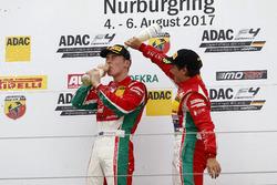 Podium: Marcus Armstrong, Prema Powerteam und Enzo Fittipaldi, Prema Powerteam