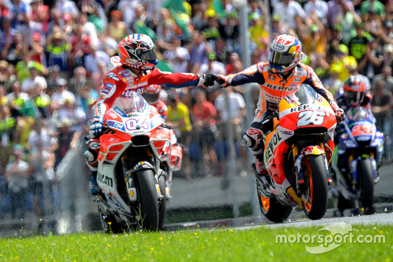 Andrea Dovizioso, Ducati Team and Dani Pedrosa, Repsol Honda Team and Dani Pedrosa, Repsol Honda Team