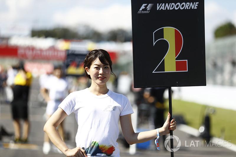Grid Girl for Stoffel Vandoorne, McLaren