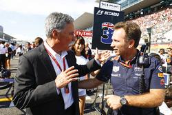 Chase Carey, Chairman, Formula One, Christian Horner, Team Principal, Red Bull Racing