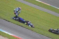 Federico Caricasulo, GRT Yamaha Official WorldSSP Team, Lucas Mahias, GRT Yamaha Official WorldSSP Team crash