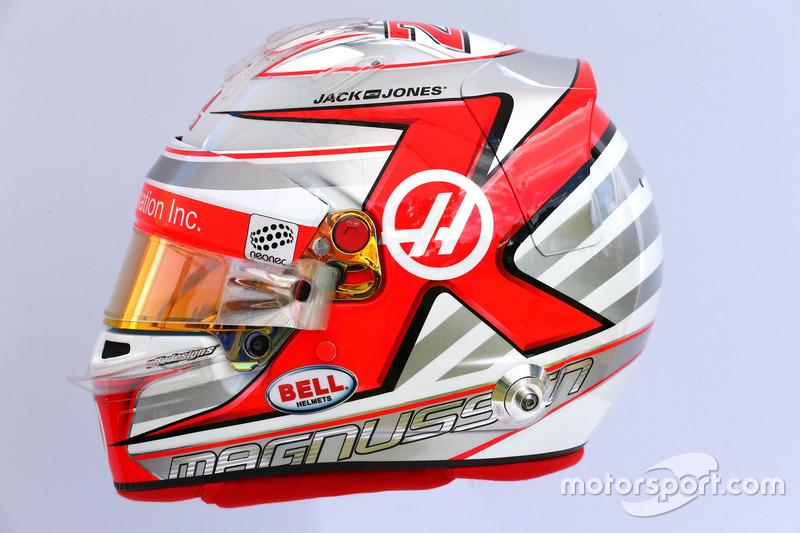 Helm von Kevin Magnussen, Haas F1 Team
