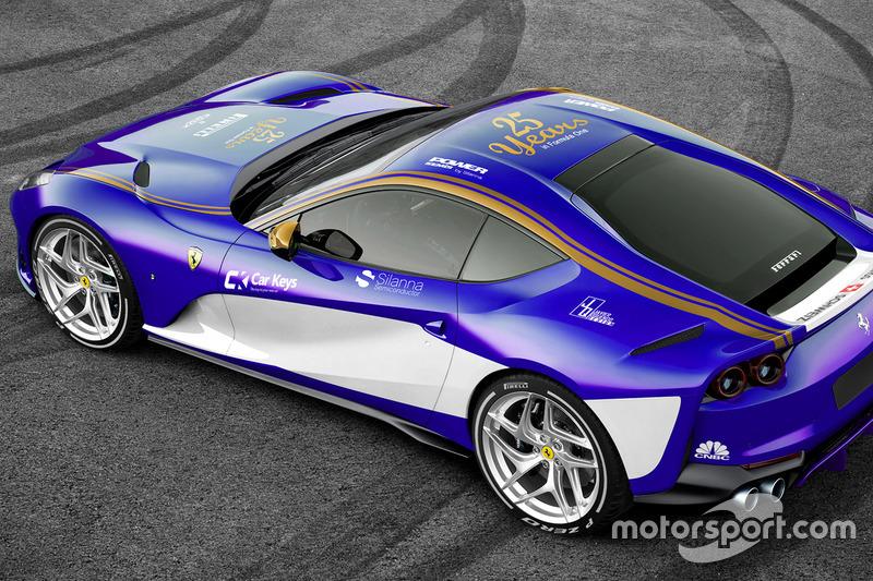 Ferrari 812 dengan corak Sauber
