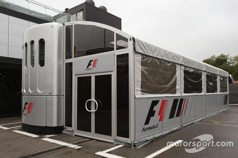 F1 motorhome