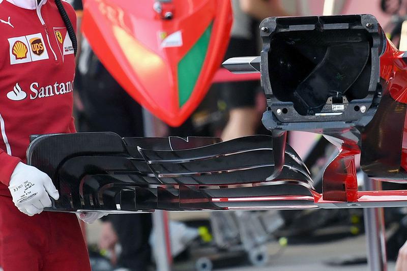 Ferrari SF70H front wing detail