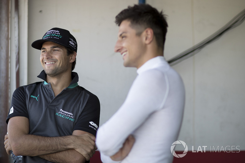 Nelson Piquet Jr., Panasonic Jaguar Racing, Mitch Evans, Panasonic Jaguar Racing