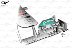 Mercedes W02 front wing