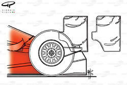 Ferrari F399 rear wing differences