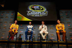 (L-R) Joey Logano, Jimmie Johnson, Carl Edwards and Kyle Busch