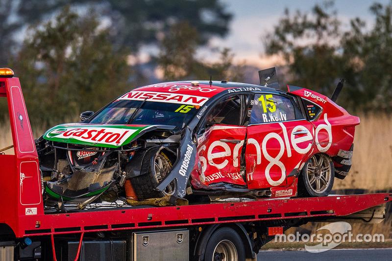 Unfallauto von Rick Kelly, Nissan Motorsports