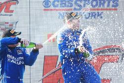 GT podium: winner Ryan Eversley, RealTime Racing, second place Peter Cunningham, RealTime Racing