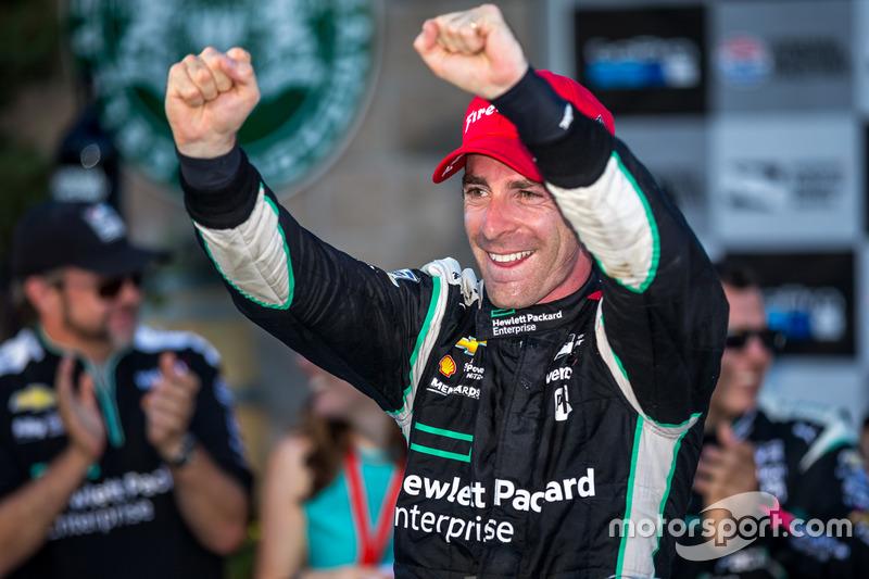 Race winner and 2016 champion Simon Pagenaud, Team Penske Chevrolet