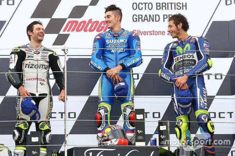 2016: 1. Maverick Viñales, 2. Cal Crutchlow, 3. Valentino Rossi