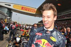 Daniil Kvyat, Red Bull Racing, op de grid