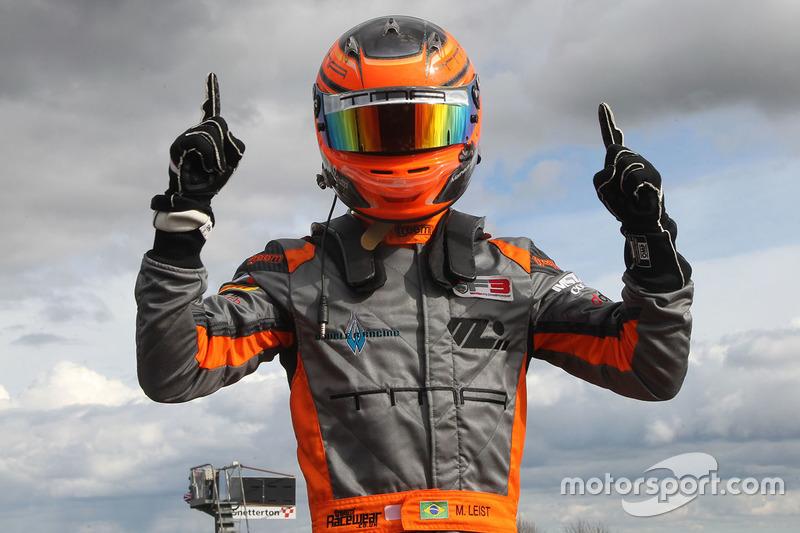 Ganador de la carrera Matheus Leist, Double R Racing