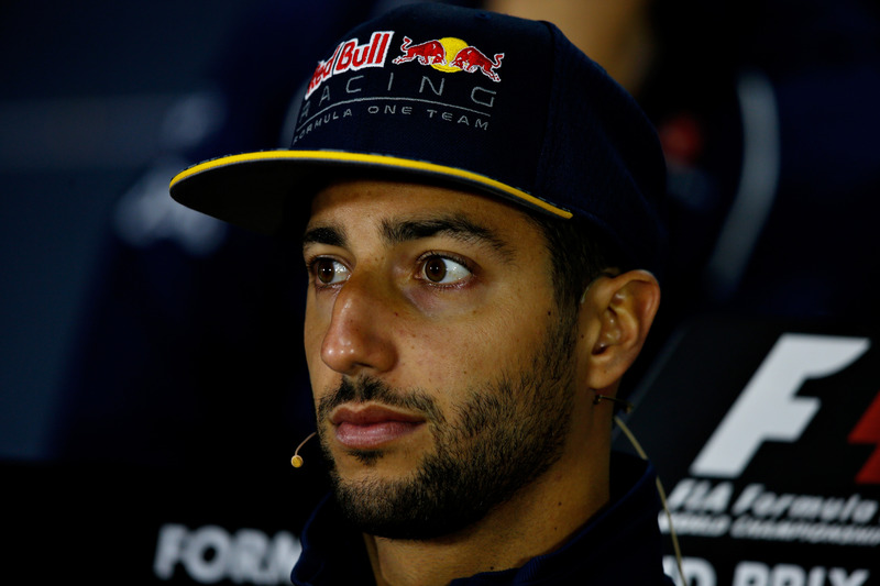 Daniel Ricciardo, Red Bull Racing in the Drivers Press Conference