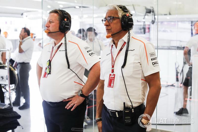 Zak Brown, PDG de McLaren Racing avec Michael Latifi, actionnaire de McLaren
