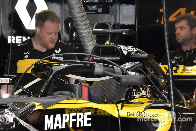 Detalle de la parte delantera del Renault Sport F1 Team RS 18