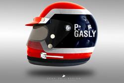 Pierre Gasly 1970's helmet concept
