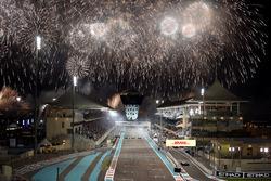 Race winner Valtteri Bottas, Mercedes-Benz F1 W08  celebrates in parc ferme alongside Lewis Hamilton, Mercedes-Benz F1 W08  and Felipe Massa, Williams FW40