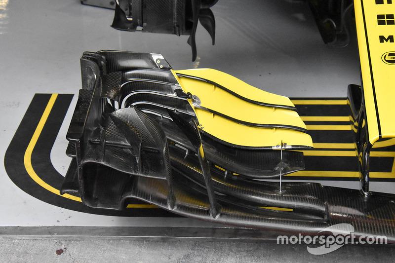 Detalle del alerón delantero de Nico Hulkenberg, Renault Sport F1 Team R.S. 18