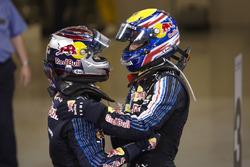 Winner Sebastian Vettel, Red Bull Racing, second place Mark Webber, Red Bull Racing