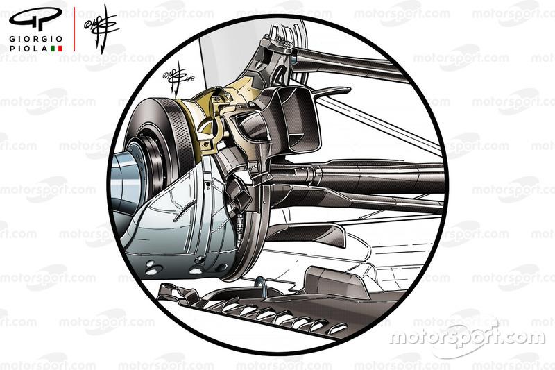 La suspension arrière de la Mercedes AMG F1 W09