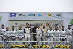 Podium: Race winners #912 Manthey Racing Porsche 911 GT3 R: Richard Lietz, Patrick Pilet, Frédéric Makowiecki, Nick Tandy, second place #4 Mercedes-AMG Team Black Falcon Mercedes-AMG GT3: Maro Engel, Adam Christodoulou, Manuel Metzger, Dirk Müller, third place #5 Mercedes-AMG Team Black Falcon Mercedes-AMG GT3: Yelmer Buurman, Thomas Jäger, Jan Seyffarth, Luca Stolz