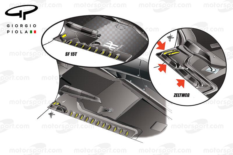 McLaren MP4-31 slots on the floor